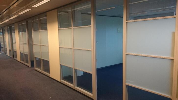 2e hands gebruikte systeemwand glaswand overige diensten - Kantoor transparant glas ...
