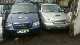 Kia sedona 2.9 diesel breaking for parts