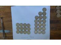Rare city £1 coins.