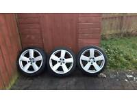 3 18 inch RS6 alloys 5x100 fitment