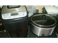 Slower cooker and bread maker