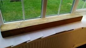 Solid wood mantle piece / lintel reclaimed wood