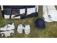 **Complete Cricket Package** (bag,bat,pads,gloves,helmet,shoes)