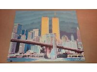 Unique & Stunning Photo Canvas New York City Twin Towers by German artist Andy Goldbaum