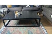 Black oak coffee table