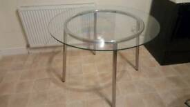 IKEA GLASS TABLE GOOD CONDITION