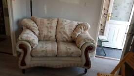 Upholstered 2- seater sofa