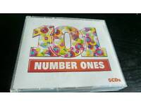 101 NUMBER ONES ...5 CDS BOX SET...AS NEW.