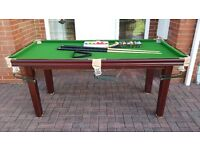 Riley Snooker Table 6ftx3ft