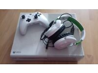 White xbox one console