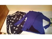 2 maternity/breastfeeding tops size 12