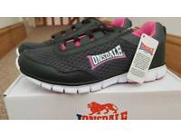 Lonsdale Womens Trainers. Charcoal/Black/Pink. Size UK 6 / EU 39. New in Box.