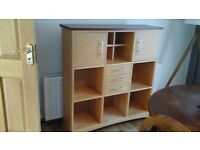 Retro solid wood storage/display cabinet/unit