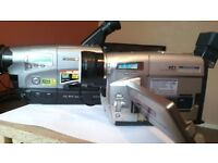 forsale 2x panasonic camcorders. complete with accesories and shoulder bags.