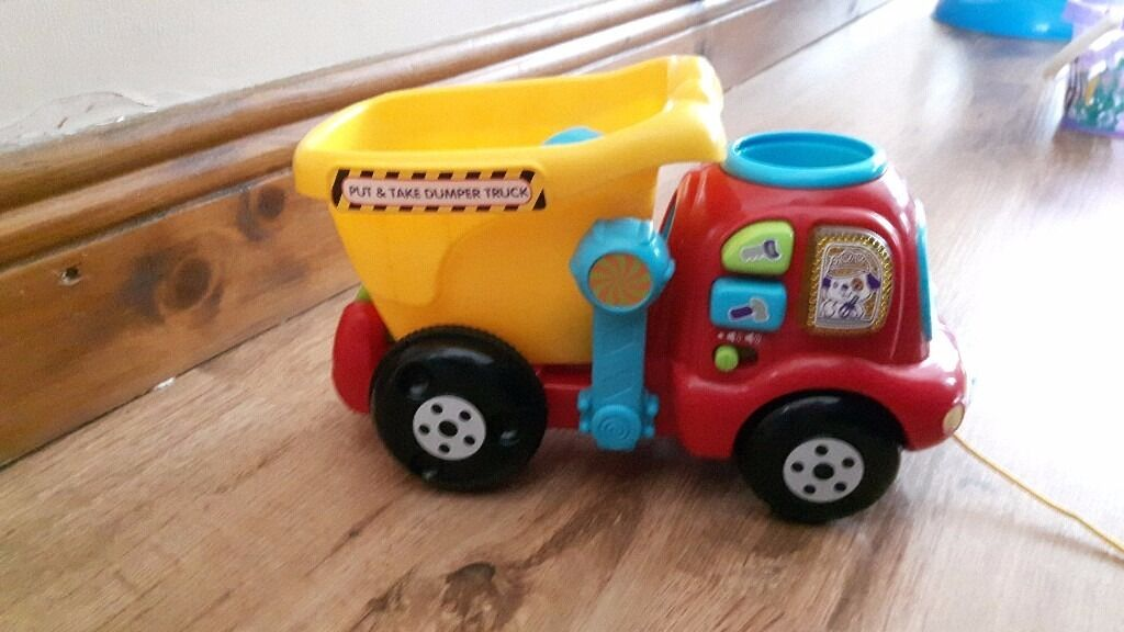 Vtech Put & Take Dumper Truck Baby Toy - GREAT CHRISTMAS GIFT IDEA