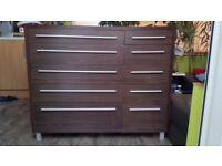 For sale two sideboards. 10 drawers and 6 drawers The price is for two