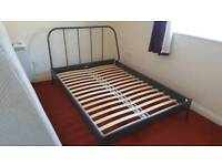 Ikea Kopardal metal double bed frame - only 18 months old RRP £115.00