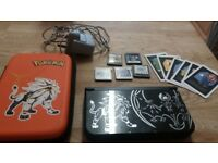 Mint Condition - Nintendo 3DS XL- Pokemon Sun & Moon + 2 Games, Charger & Case (offers welcome)