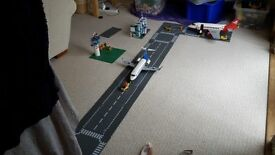 LEGO Airport Set with 2 aircraft, airport, runway, control tower, service vehicles and minifigures