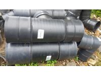 Polypipe Rigidrain 225mm T-Junction. Twinwall Product code: JRD225225T
