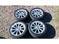 Bmw 17 inch wheels with excellent tyres 5x120pcd e46 e39 e36