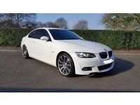 White BMW 320 D M Sport coupe with upgraded M3 Wheels #xenons #Aux #Idrive #heated leathers