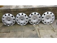 4 used VW transporter T5 wheel trims