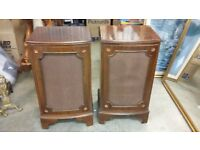 A PAIR of Large wooden speakers....could be used for an 'upcycle' project