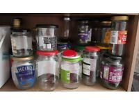Glass jars with lids to giveaway