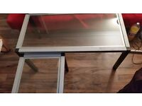 2 silver coffee tables