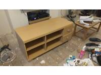TV Stand with shelves and draws