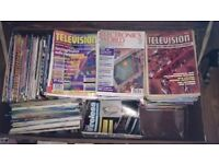 100s of Television and Electronics Magazines 1970s-2000s