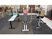 Weight training equipment, weights and benches,