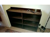 Solid Wooden Dark Stained Bookcase Free for Collection