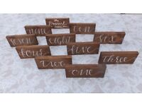 Wedding Table Numbers and Card Box