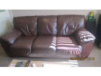 Soft leather 3 seater sofa