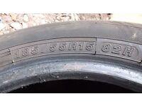 Pair 185/55 R15 82H Yokohame Blue Earth tyres