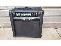 CRATE GT15R combo ELECTRIC GUITAR AMPLIFIER amp 15 Watts VERY GOOD CONDITION!CAN DELIVER OR POST!