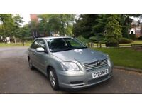 TOYOTA AVENSIS AUTOMATIC, 1.8, 03 REG, 100K MILES, FSH, HPI CLEAR, 1 YEAR MOT, DELIVERY AVAILABLE