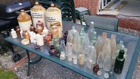 Old Bottles and pots etc