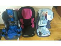 3 child seats hardly used.