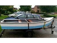 14ft Fishing Boat for sale 6hp Evinrude outboard