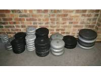 Vinyl plates weights, fitness mats, training mask, Boxing gloves