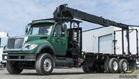 2004 International 7600 HIAB 235K-2 Boom - Grue