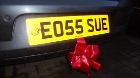 EO55 SUE Personalised registration plate for sale
