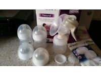 Phillips Advent Sterilizer, breast pump & bottle set £20