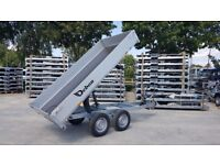 Tipping Trailer 2t Twin Axle 3,12 x 1,54 m for home & garden NEW 2018