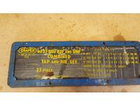Draper No33 Tap & Die Set BSU BSF & UNF 33 Piece