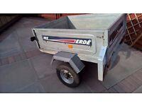 Erde 102 car trailer with spare wheel