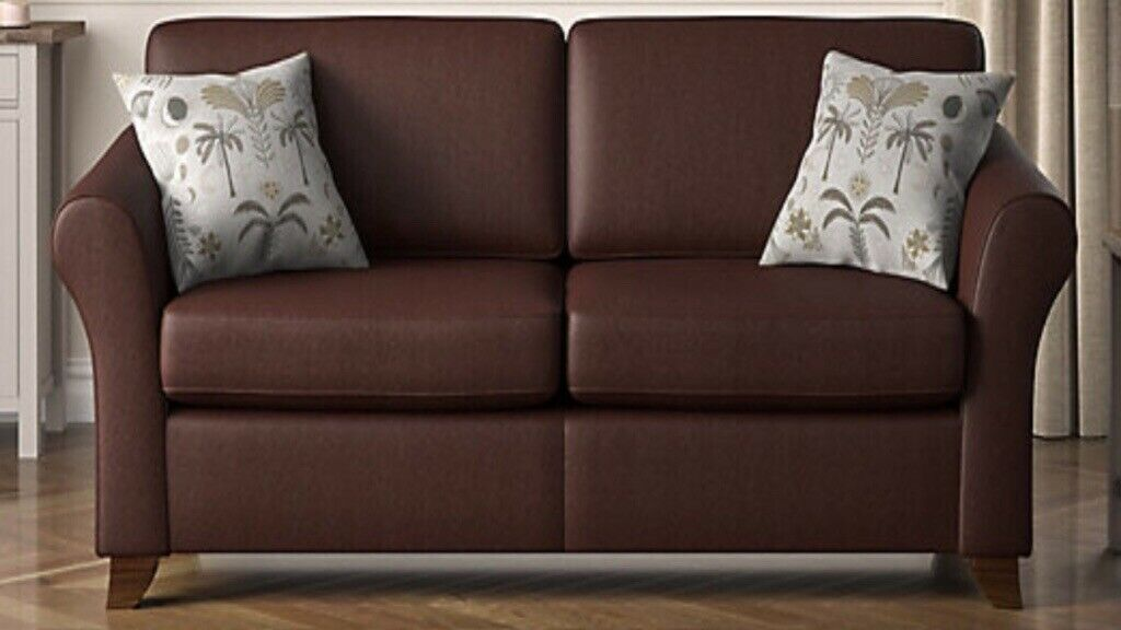 Marks Spencer 4 Seater Abbey Leather Sofa In Preston